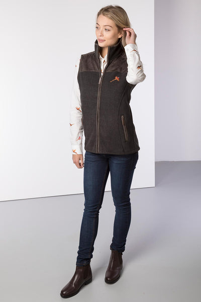 Iron - Ladies Garton II Fleece Gilet Pheasant Motif