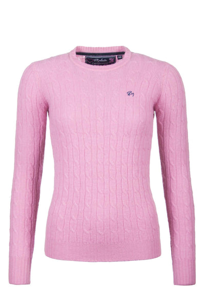 Pink - Cable Knit Sweater by Rydale