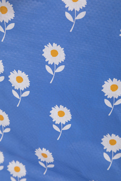 Daisy Blue - Patterned Shopper Bag Large