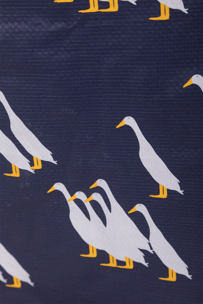 Duckie Navy - Patterned Shopper Bag Large