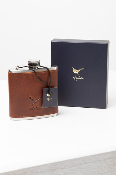 Men's Dandy Leather Hip Flask