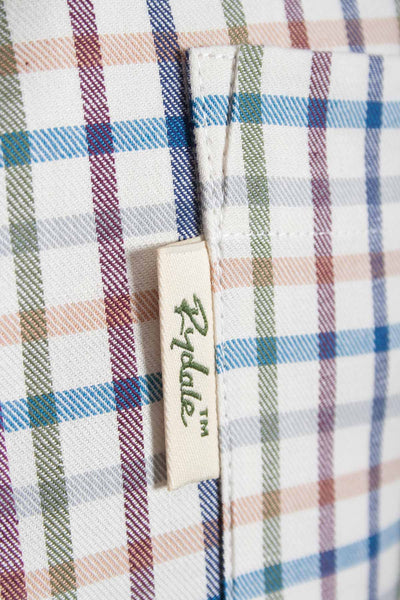 Harvest Light Check - Mens Colourful Gingham Country Checked Shirt