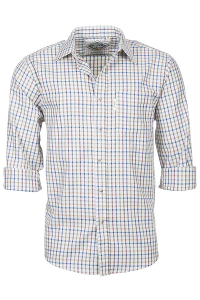 Harvest Light Check - Mens' 100% Cotton Country Check Shirt