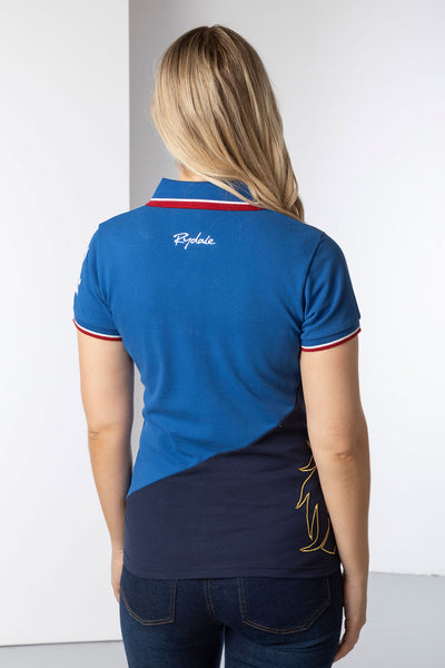 Blue/Navy - Ladies Diagonal Polo Shirt - Lily