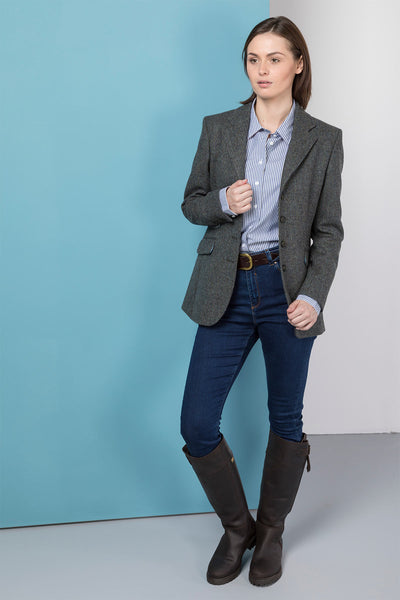 Abigail - Ladies Long Tweed Blazer