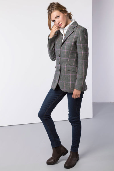 Emily - Ladies Long Tweed Blazer