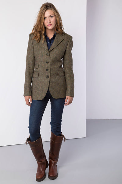 Emma - Ladies Long Tweed Blazer