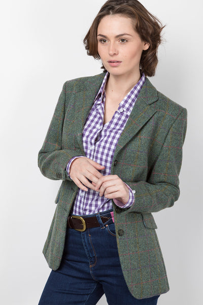 Lizzie - Ladies Long Tweed Blazer