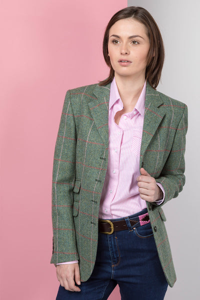 Sally - Ladies Long Tweed Blazer