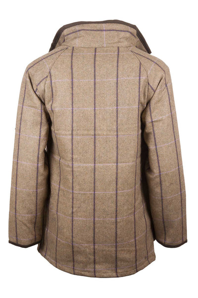 Lucinda - ladies waterproof long tweed jacket