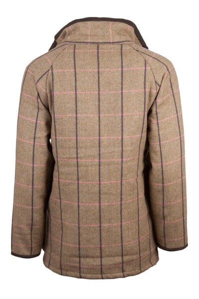 Megan - ladies waterproof long tweed jacket