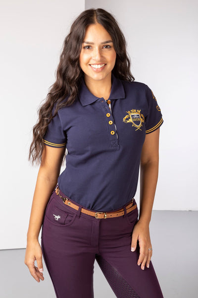 Navy - Lucy Emblem Polo Shirt