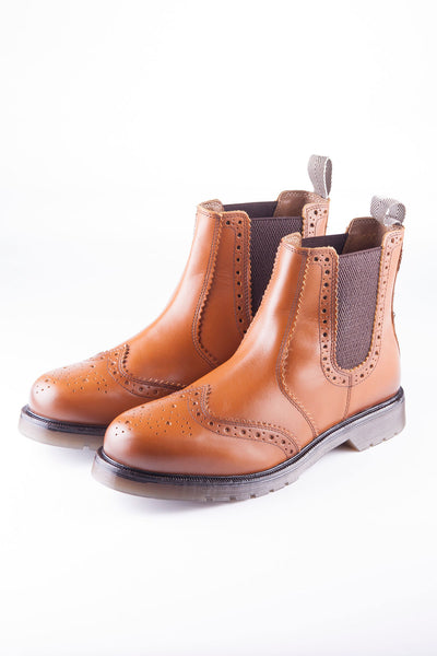 Tan - Malton Brogue Market Boots