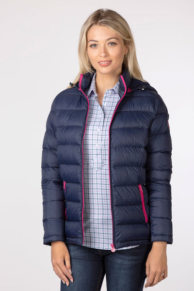 Navy - Marske Quilted Jacket