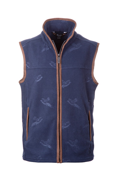 Ink - Men's Pheasant Fleece Gilet - Haxby