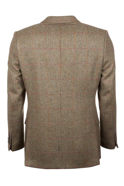 Men's Green Check Tweed Jacket - Lisset