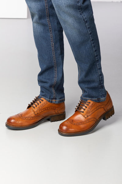 Men's Country Leather Brogues UK