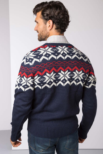 Navy - Men's Christmas Sweater