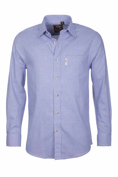 Ilkley Blue/White - Men's Country Check Shirt