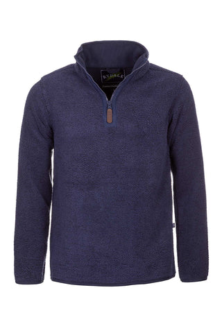 Navy - Mens Cowlam Overhead Fleece