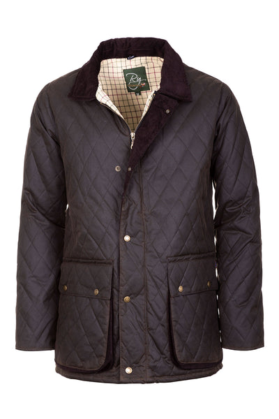 Olive - Diamond Quilted Wax Jacket II
