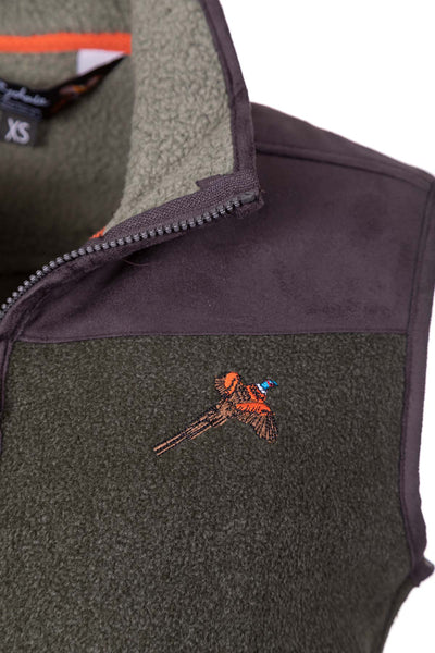 Khaki - Men's Fleece Gilet - Garton III