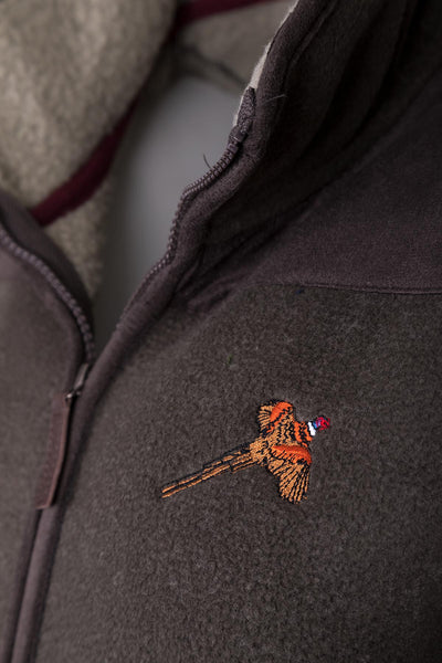 Bark - Men's Garton II Fleece Gilet Pheasant Motif