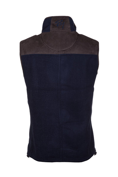 Ink - Men's Garton II Fleece Gilet Pheasant Motif