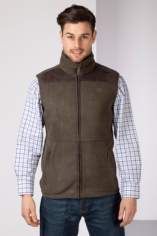 Bark - Men's Garton II Fleece Gilet Ry Motif