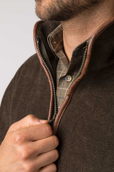 Olive - Mens Harpham Fleece Jacket