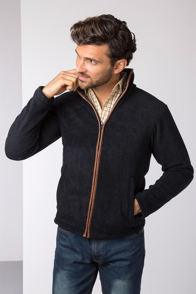 Navy - Mens Harpham Fleece Jacket