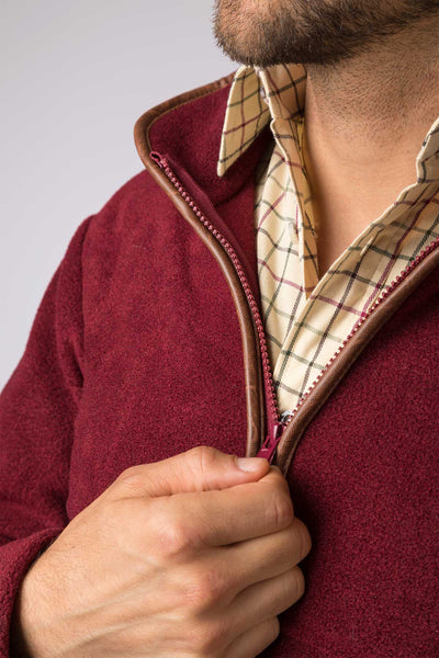 Red - Mens Harpham Fleece Jacket