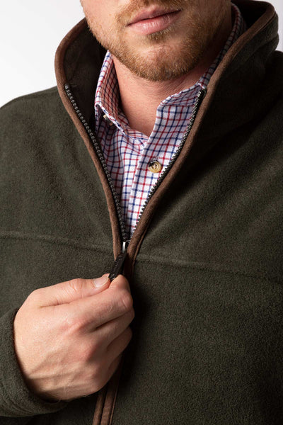 Khaki - Mens Huggate Fleece Jacket