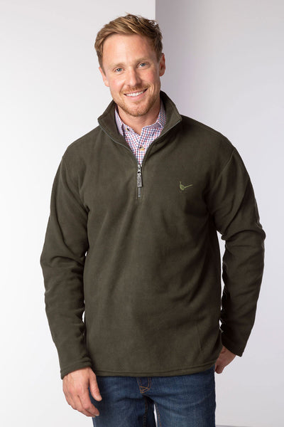 Khaki - Men's Kelk Overhead Pheasant Fleece