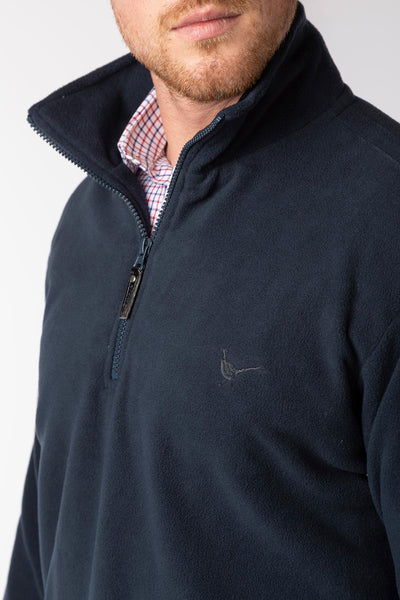 Navy - Men's Kelk Overhead Pheasant Fleece