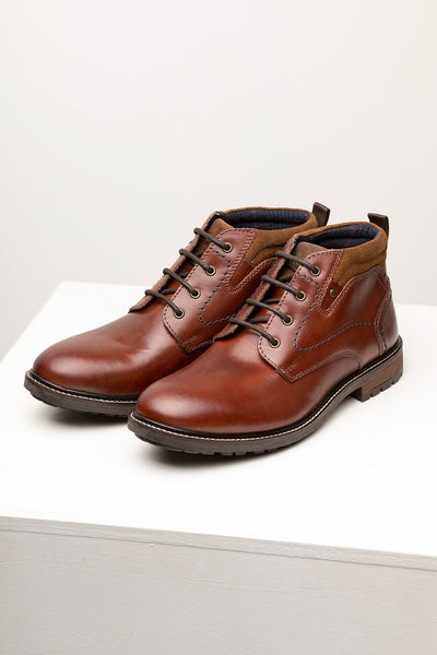 Cognac - Men's Lace Up Boots - Atwick