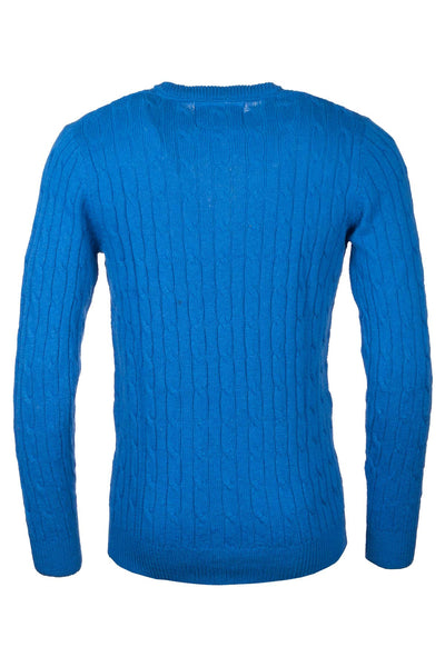 Royal Blue - Mens Classic Crew Neck Sweater