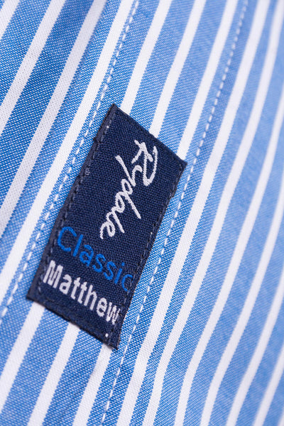 Matthew Blue - Mens 2016 Oxford Classic Shirt