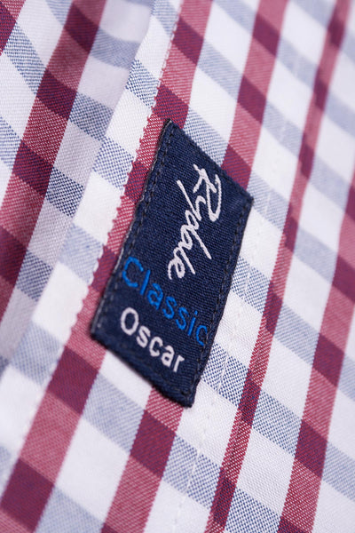 Oscar Jblue/Wine - Mens 2016 Oxford Classic Shirt