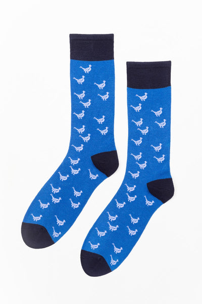 Royal Blue - Men's Pheasant Pattern Socks