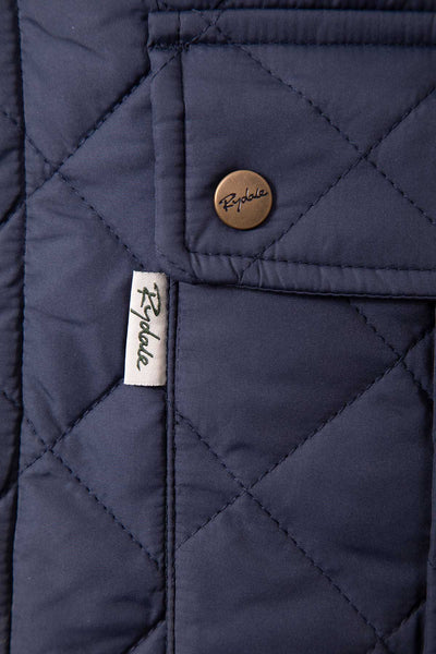 Navy - Men's Quilted Waistcoat - Settle