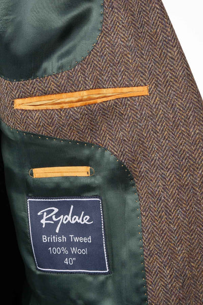 Men's Brown Herringbone Tweed Jacket - Ripley