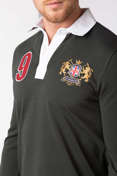 Olive - Men's Rugby Shirt - Otley Plain