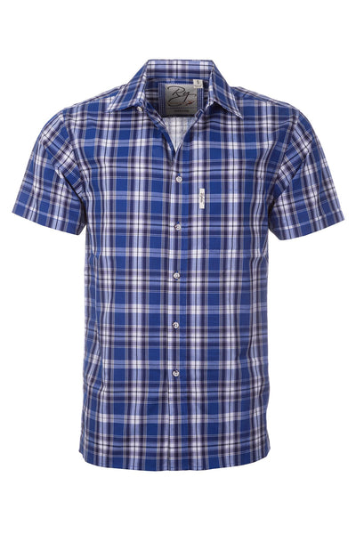 Ganton Blue - Mens Short Sleeve Shirt