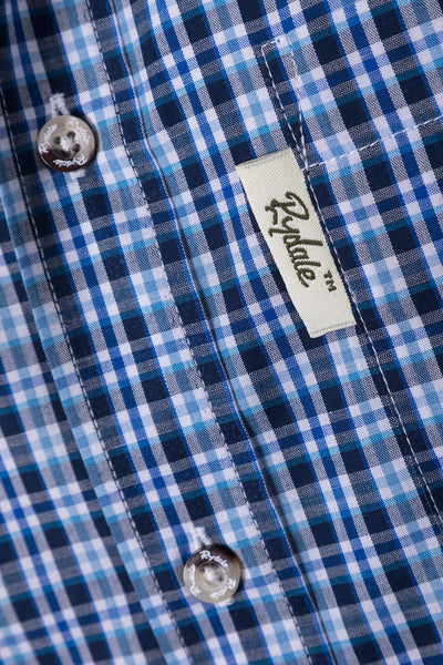 Sherburn Blue - Mens Short Sleeve Shirt