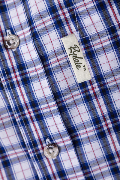 Yedingham Blue - Mens Short Sleeve Shirt