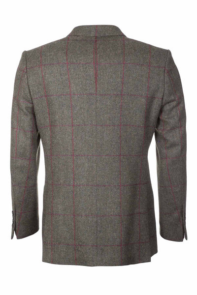 Men's Brown Checked Tweed Jacket - Sledmere