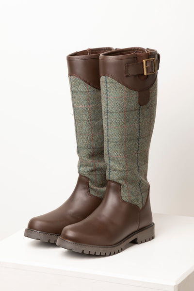Blue - Middleham Long Tweed Boots