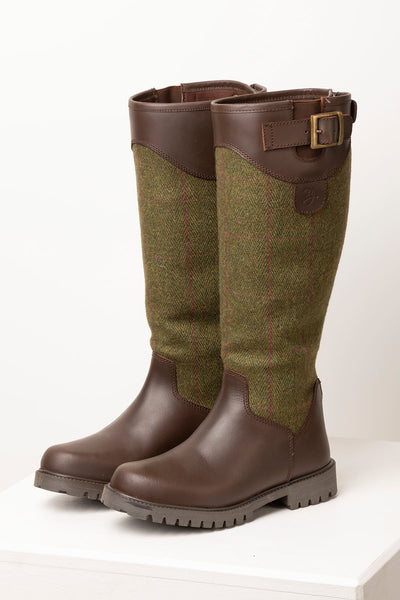 Olive - Middleham Long Tweed Boots