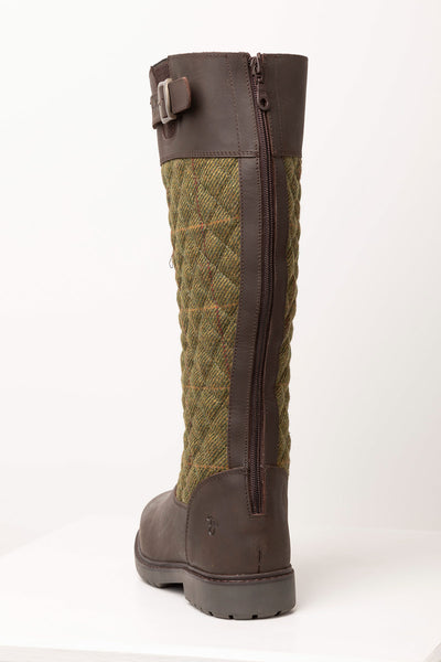 Olive - Middleham Quilted Tweed Boots